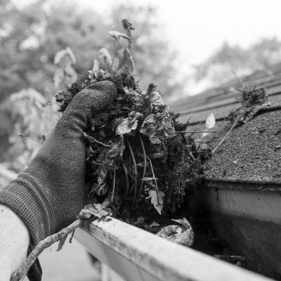 Getting your gutters ready for a heavy winter.